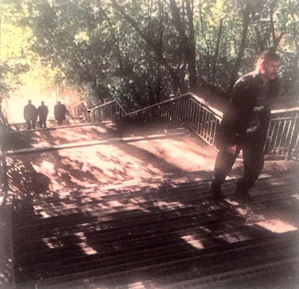 Лестница к плотине. Фото: 2003. Ижевск.