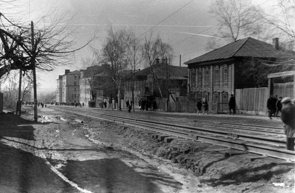 Улица Карла Маркса. 1970 -е годы. Ижевск. Фото Ожигова Ю.Г.