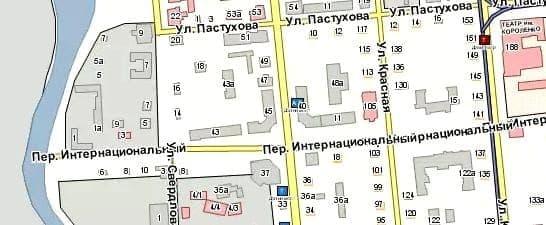 Узенький ныне Интернациональный переулок.