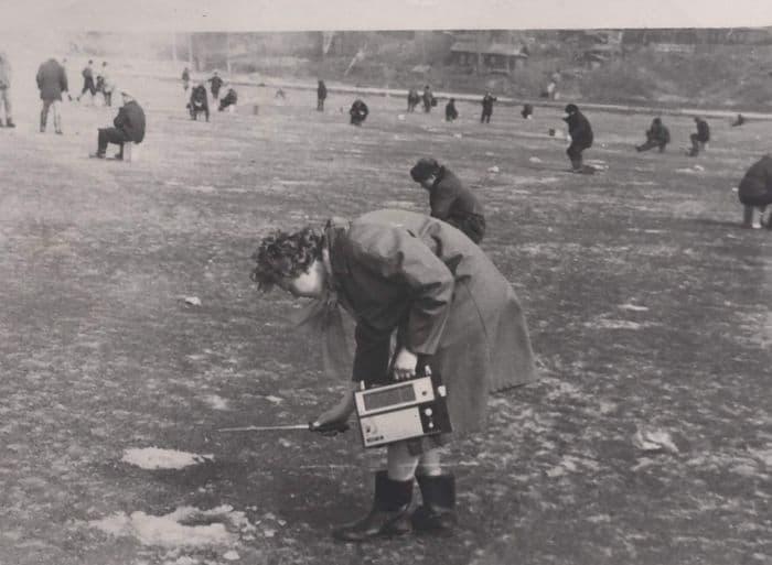 Рыбаки на Ижевском пруду. Март 1969 г.