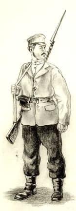 Стрелок-ижевец. Ижевско-Воткинская дивизия. 1918 г.