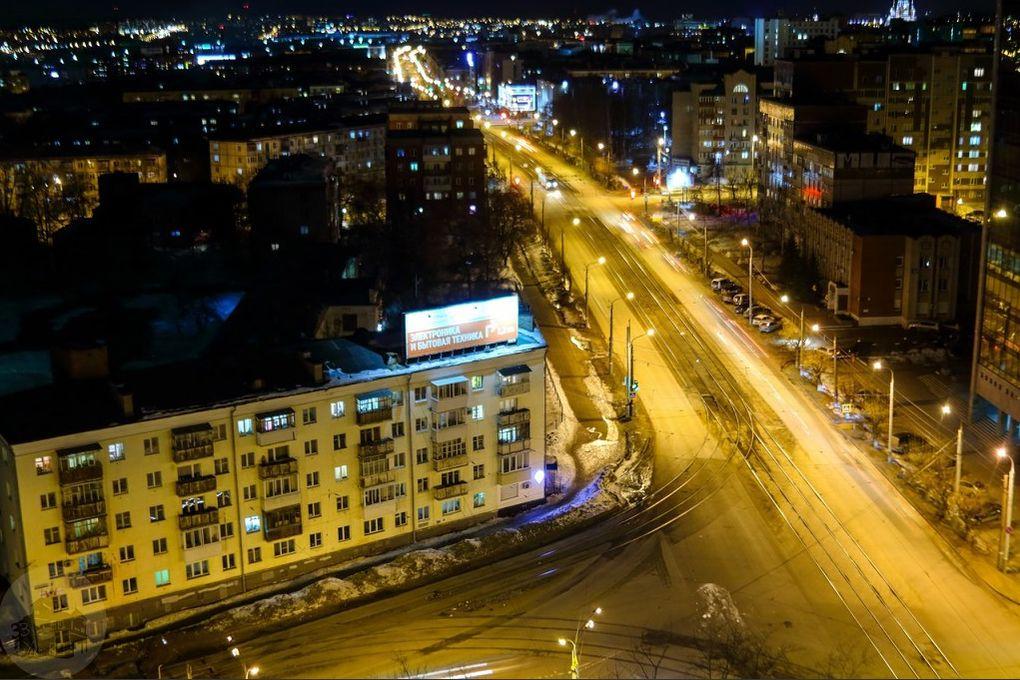 Перекресток улиц Ленина Орджоникидзе. Дом Орджоникидзе 52. 2017 год.
