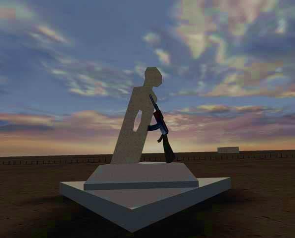 Памятник Калашникову в Судане.