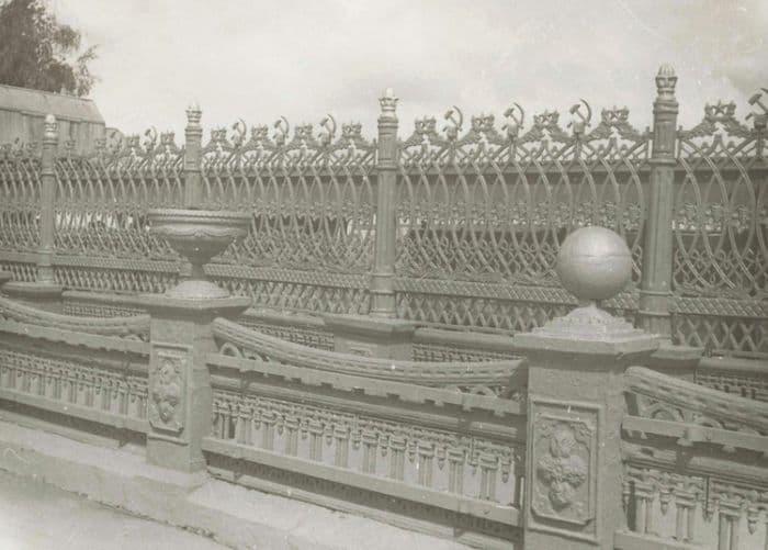 Ограда плотины Ижевского оружейного завода. Фото: 1978 год.