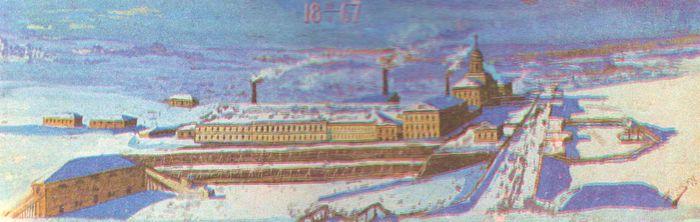 Быков А. Панорама Ижевского завода (1917).