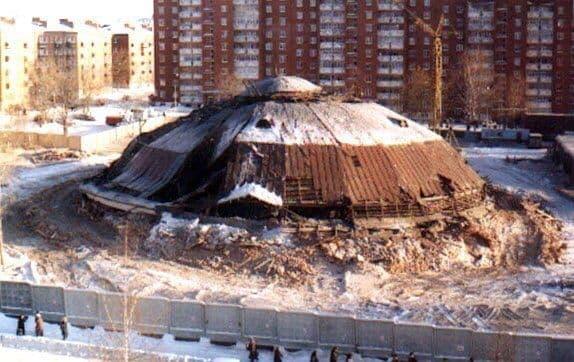 Снос старого цирка. Ноябрь 1999 года. Ижевск.