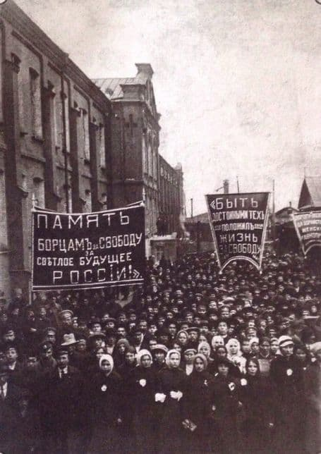 Митинг на Ижевском заводе, март 1917 года. Фото из коллекции А. В. Болтин. Ижевск.