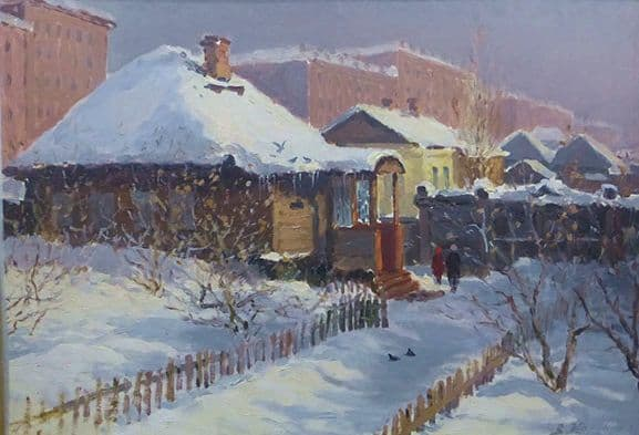 В центре Ижевска. Василий Жарский. 1954 год.