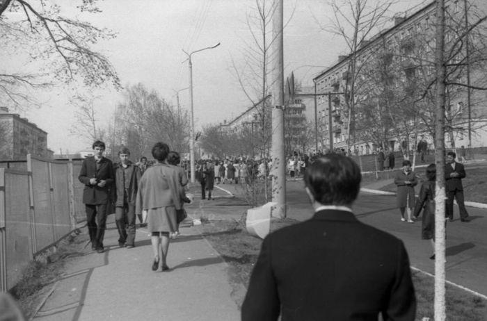 Улица 50 лет Пионерии. 1973 год. Ижевск.