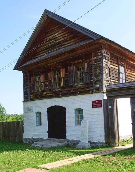 """Музей """"Вуж Мултан"""" в с. Короленко (Старый Мултан). В этом доме останавливался Владимир Короленко."""