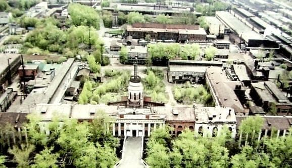 Башня Ижевского оружейного завода, вид  с сверху.