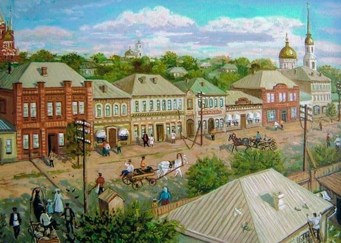 Базарная улица. Ижевск. В.Б.Котляров