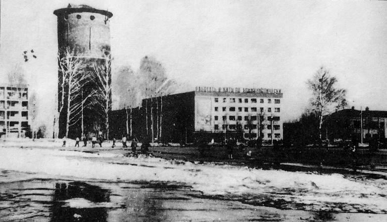 Центральная площадь. Водокачка. Фото 1965 г. Ижевск.