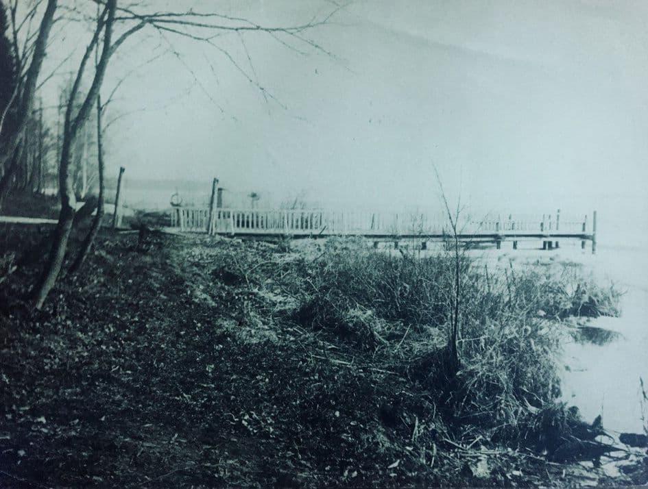 Пристань на даче фабриканта Евдокимова А.Н. Фото: 1914 год, Ижевский пруд.