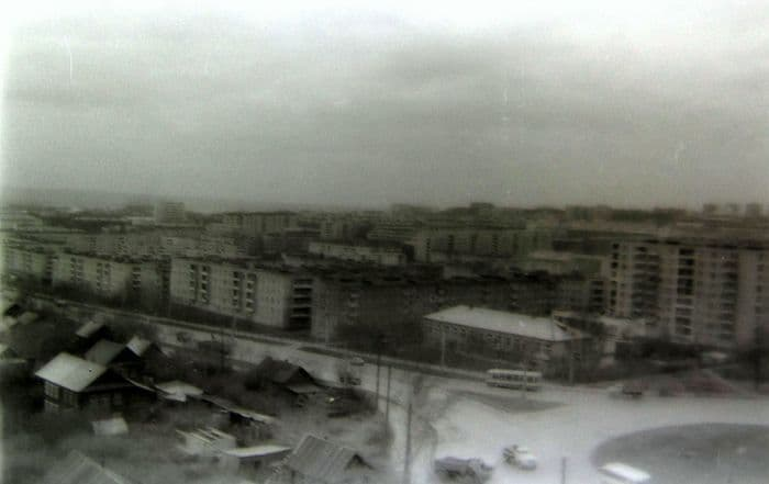 Перекресток улиц Удмуртской и К. Либкнехта. 80-ые годы. Ижевск.