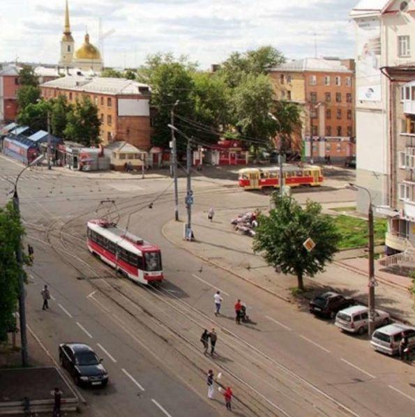 Перекресток улиц Ленина и К.Маркса, Ижевск. Фото 1960-ые годы.