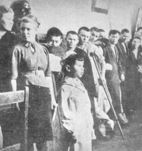 Выступления детей в госпитале. Апрель 1943 г.