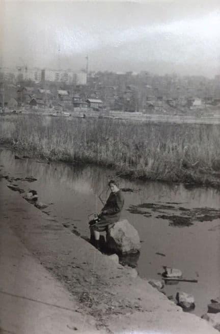 Ижевский пруд, набережная со стороны улицы Береговой, 1971 год.