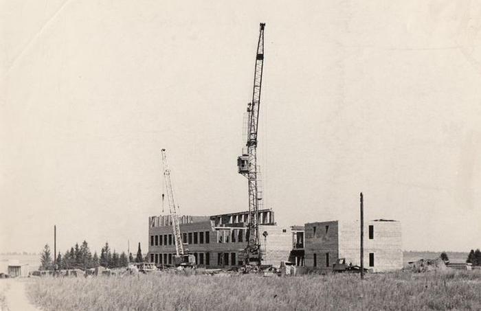 Строительство Ижевского аэропорта.