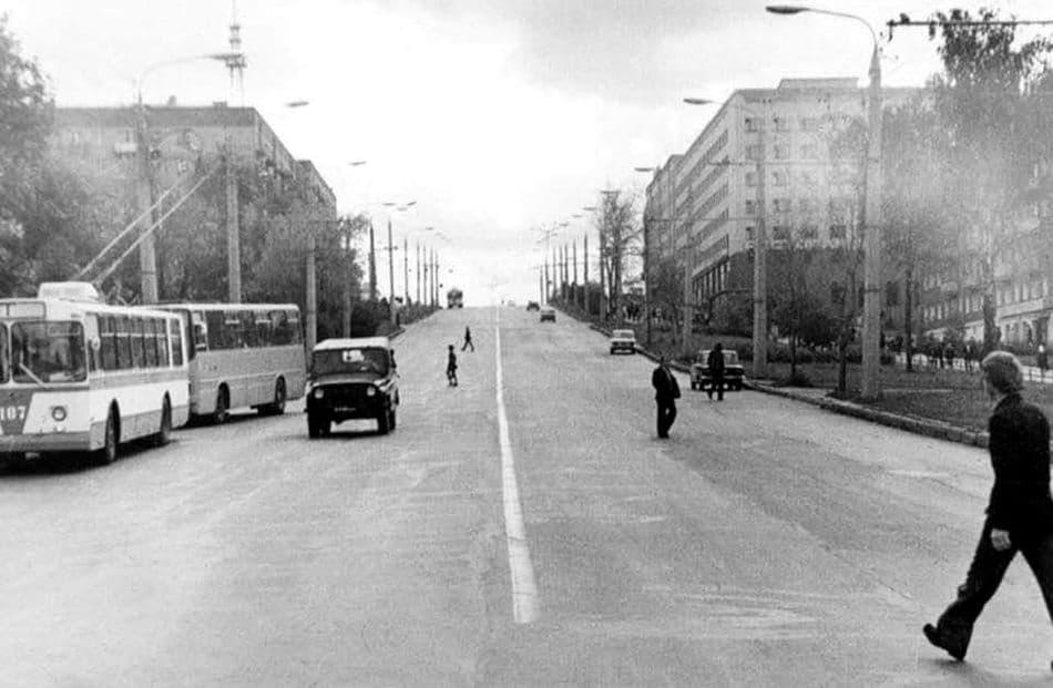 Улица Пушкинская, Ижевск. 1970-е годы.