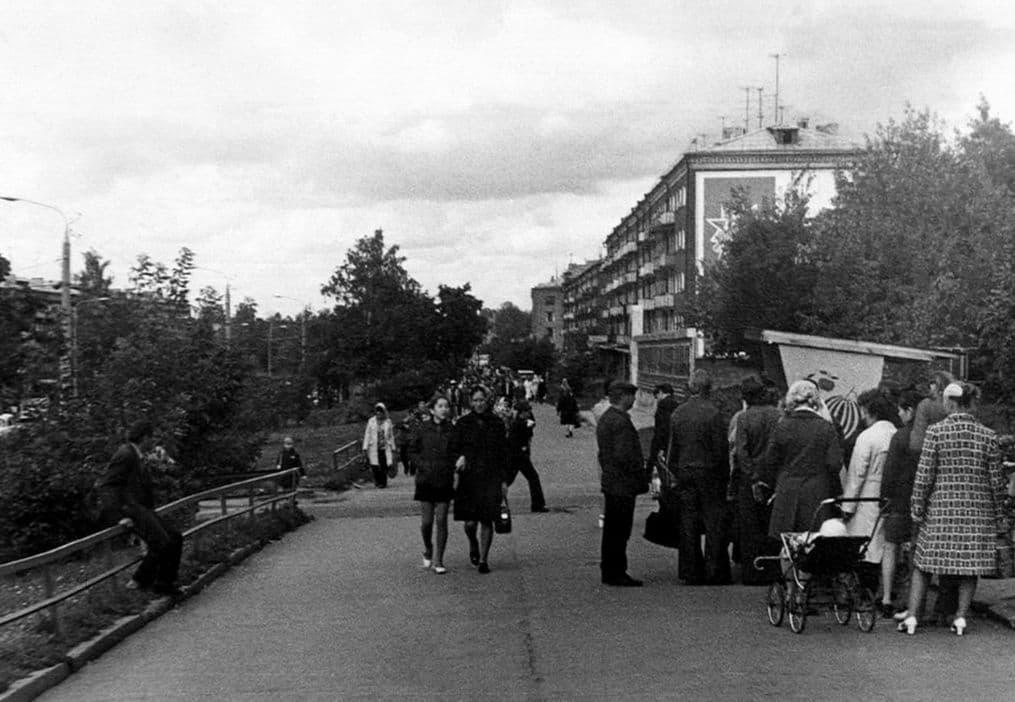 Пушкинская улица дом №242. 60-70-ые годы. Ижевск.