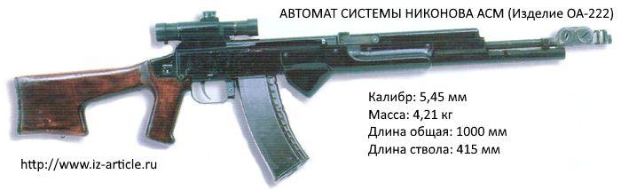 АВТОМАТ СИСТЕМЫ НИКОНОВА АСМ (Изделие ОА-222)