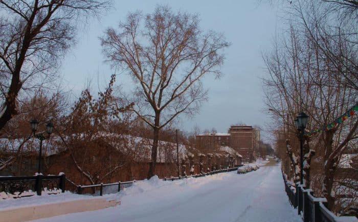 Долгий мост и Интернациональный переулок в Ижевске.