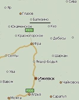 Балезино карта.