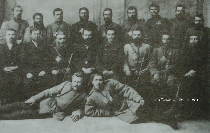 Лесная охрана Воткинского лесничества Камско-Воткинского горного округа. 1906 г.