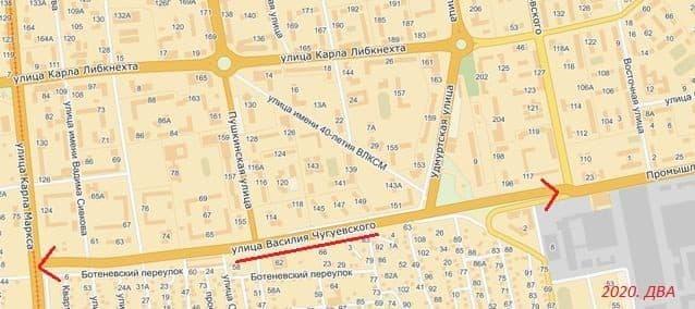 Улица Чугуевского Ижевск. 2020. ДВА.