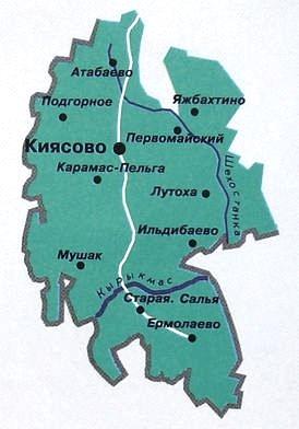 Карта Киясовского района.