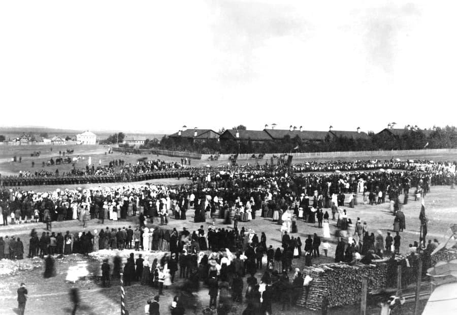 Михайловская площадь. Ижевск. Фото 1912 года.