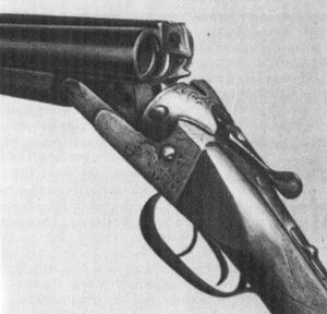 Двуствольное бескурковое ружьё модели Иж-БК.