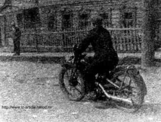 Мотоциклист в Ижевске.