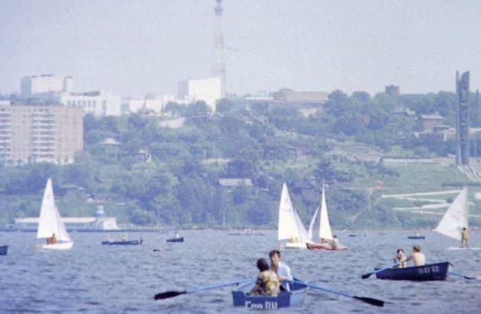 Отдых на Ижевском пруду. 1985 г.