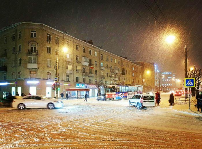 Перекресток ул. Ленина и Пушкинская. Ижевск