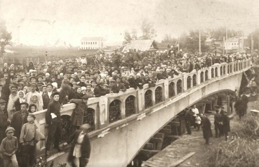Открытие моста через р.Сарапулку 18 сентября 1928 года. Удмуртия. Сарапул.