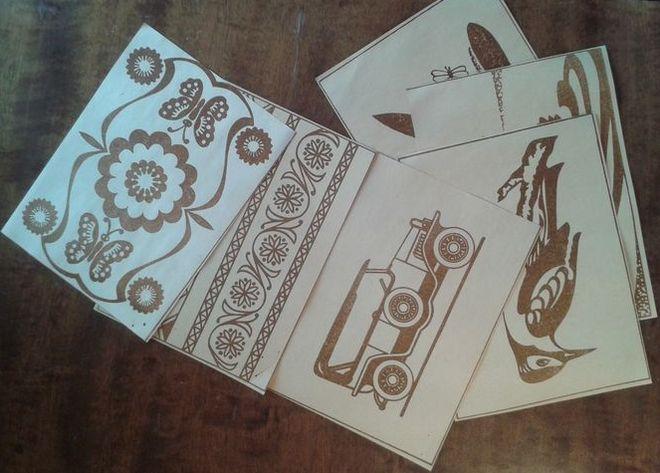Образцы рисунков и орнаментов. Произведено в Удмуртии.