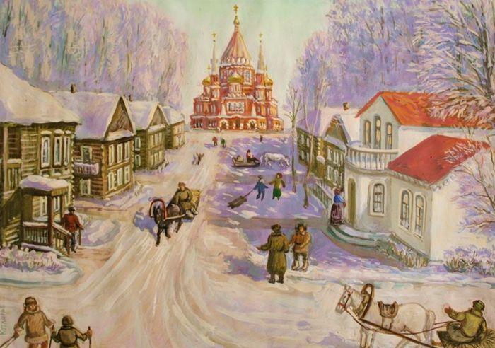 Зима в старом Ижевске Виктор Борисович Котляров.