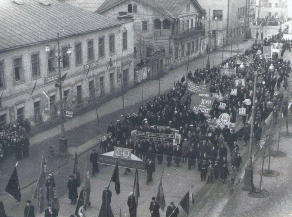 Демонстрация в Ижевске. 1961 год.