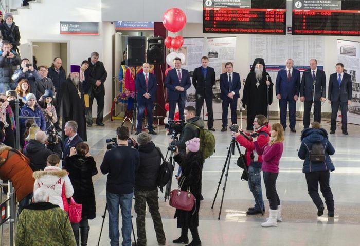 Открытие нового ж/д вокзала в Глазове 19.12.2016.