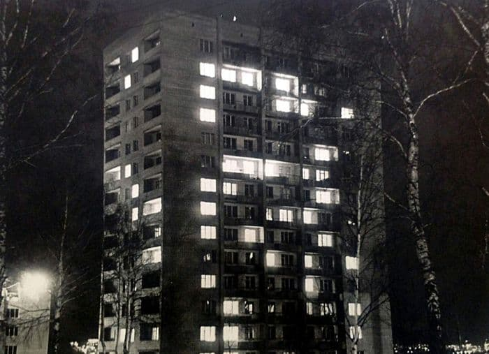 Дом №2 по улице Наговицына, Ижевск. Фото: 11 марта 1977 года.