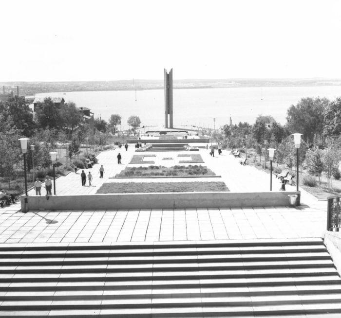 Центральная эспланада Ижевска Фото 1975