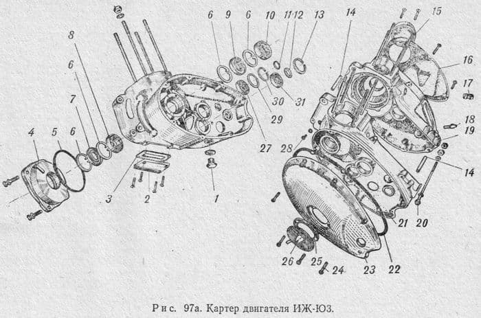 Картер двигателя ИЖ-Юпитер3