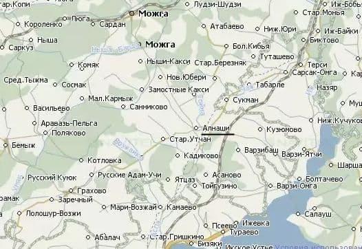 Деревни и села Алнашского района. Удмуртия.