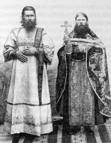 Белокриницкое духовенство: диакон Георгий Малых и священник Вавила Зайцев. Камбарка. 1907 г.
