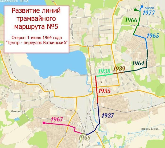 Развитие линий трамвайного маршрута №5. Ижевск.