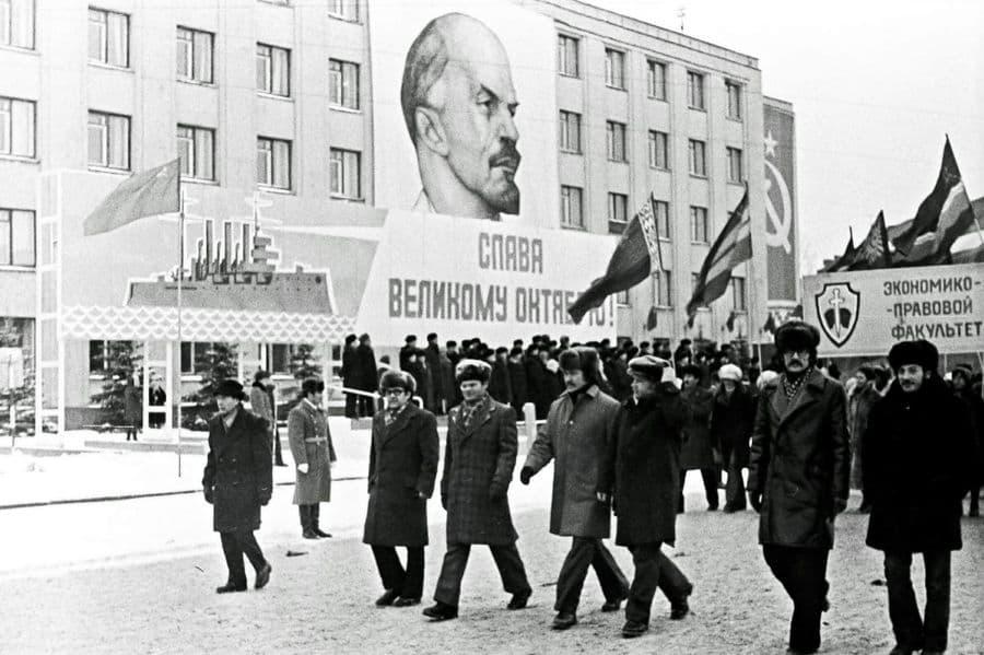 Октябрьская демонстрация. 1980 год. Ижевск.