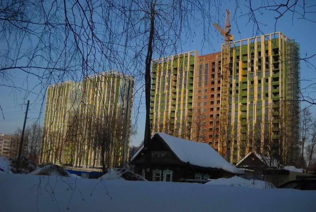 Дома ул. В.Сивкова 273 и 275. Строительство ЖК Эко-Лайф. Ижевск. 2017 год.