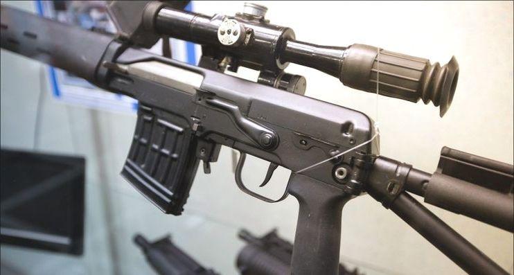 Снайперская винтовка системы Драгунова.